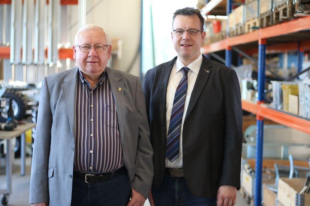 Geschäftsführer Axel Schicklick mit Firmengründer Hanns Schickling