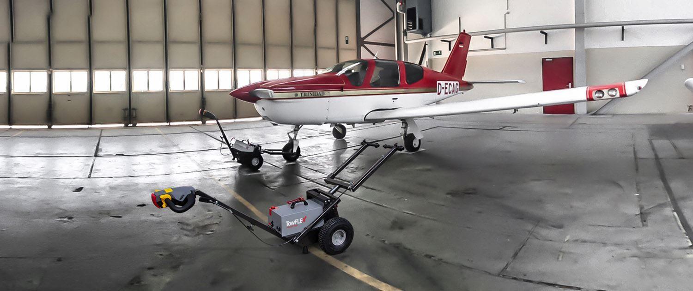 Towflexx TF2 Aircraft Tug with Socata TB20