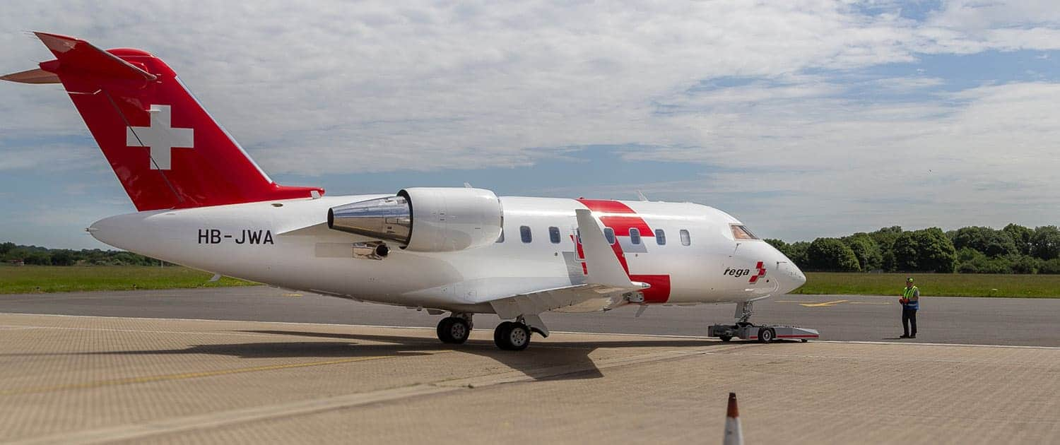 TowFLEXX TF5 is used with Bombardier Challenger Jet (REGA)